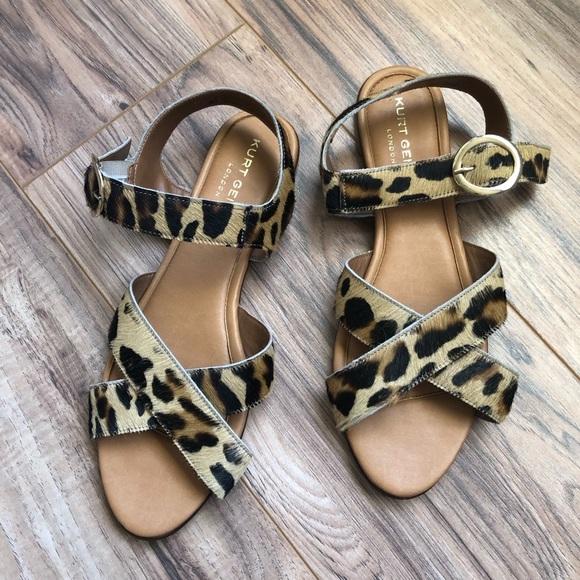 kurt geiger leopard print sandals